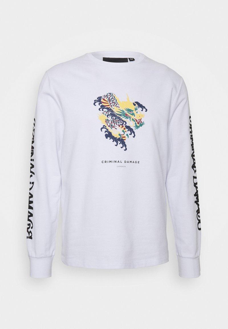 Criminal Damage - DRAGON SKATE - Sweatshirt - white