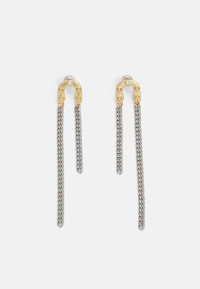 CHAIN LINEAR EARRING - Pendientes - gold-coloured