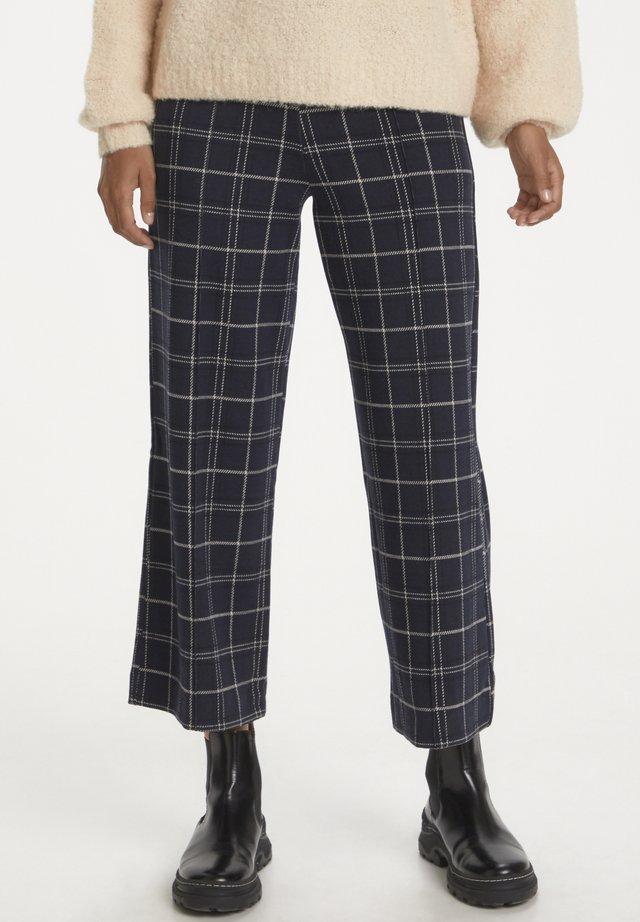 ILISANPW  - Pantalon classique - check, navy