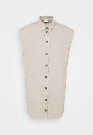 NMALMA CAPSLEEVE DRESS - Skjortklänning - chateau gray