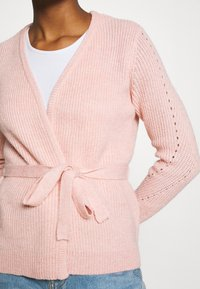 Vila - VISURIL BELT  - Cardigan - misty rose melange - 5