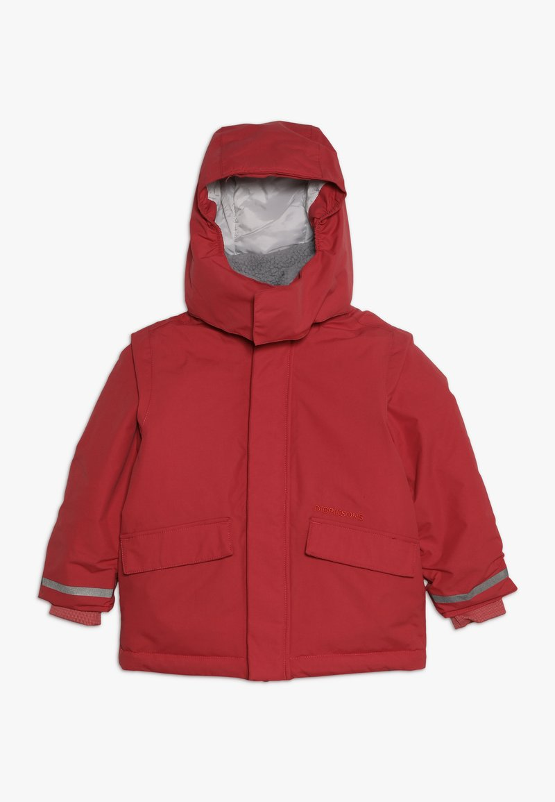 Didriksons - OSTRONET KIDS JACKET - Impermeable - rasberry red