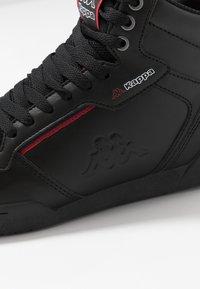 Kappa - MANGAN - Chaussures de running neutres - black/red - 5