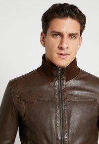 Serge Pariente - SOUL - Leather jacket - mocca - 4
