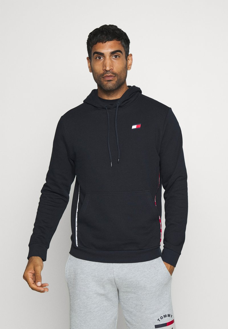 Tommy Hilfiger - PIPING HOODY - Hoodie - blue