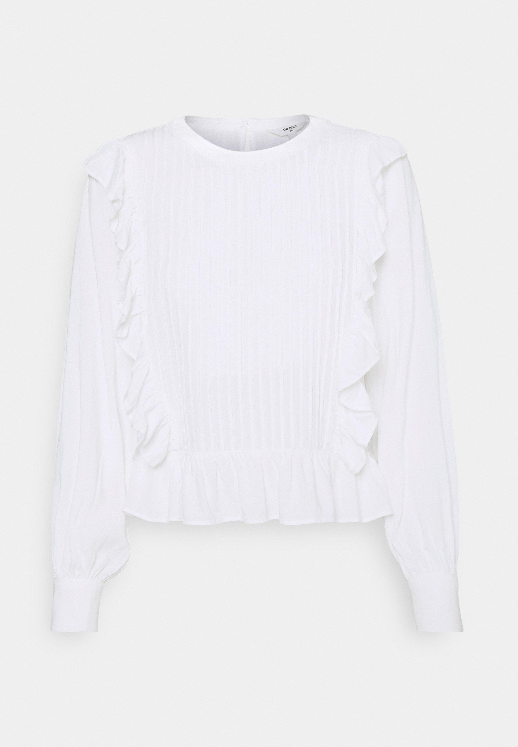 Women OBJSISLA BLOUSE - Long sleeved top