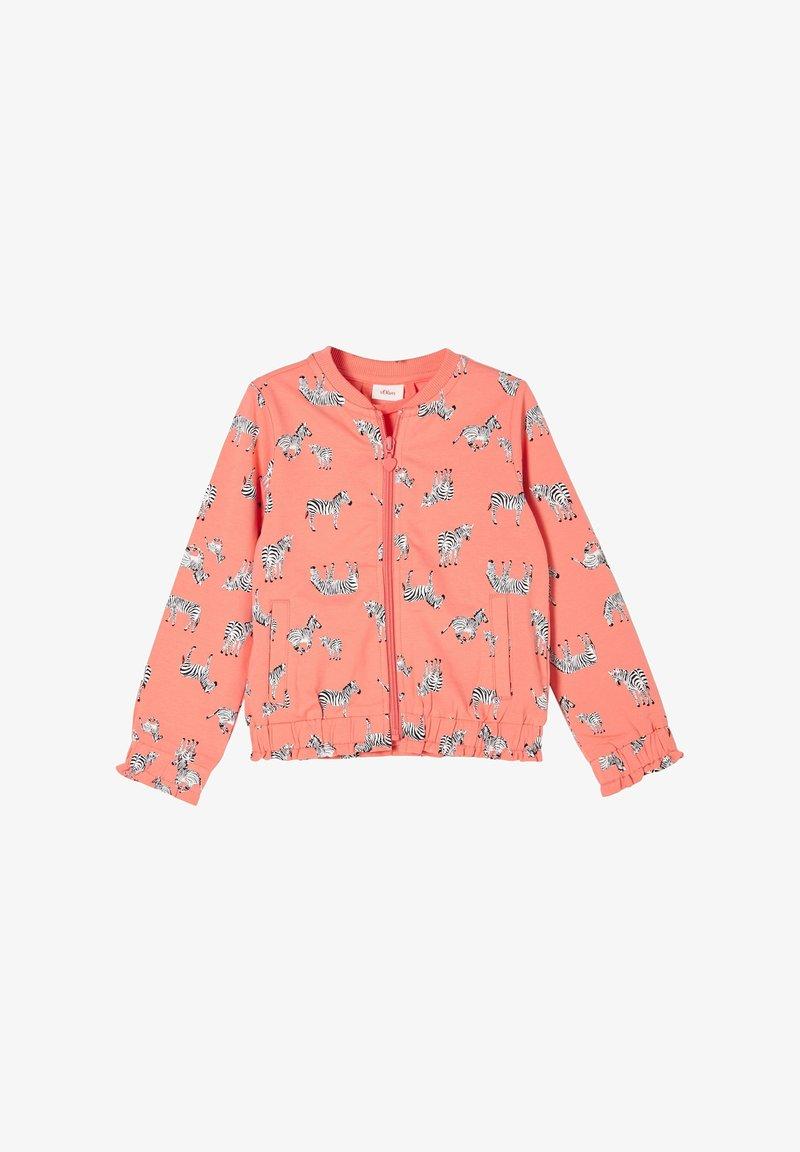 s.Oliver - JAS - Zip-up hoodie - light orange aop