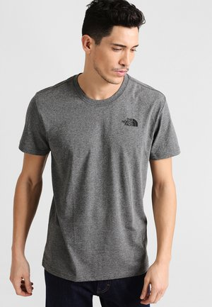 BOX TEE - Printtipaita - mottled grey