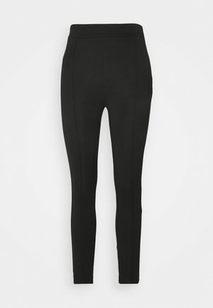TAILORED PUNTO PANTS WITH PINTUCKS  - Trousers - black