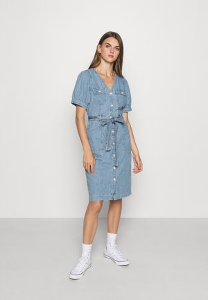 BRYN DRESS - Denim dress - light blue denim