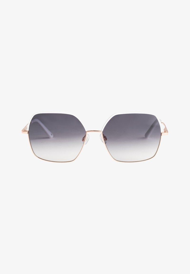 Roxy - LILIES - Sunglasses - shiny rosegold-white/grey grad