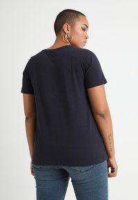 Zizzi - SHORT SLEEVE V NECK - T-shirts - night sky - 2