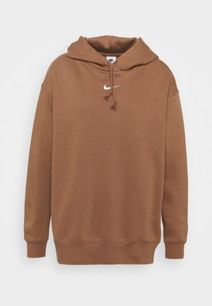 Hoodie - archaeo brown/white