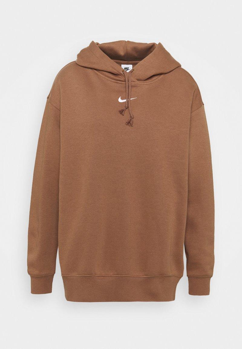 Nike Sportswear - HOODIE - Hoodie - archaeo brown/white