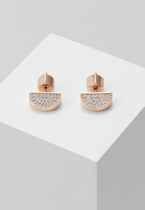 PAVE STUDS - Øreringe - clear/rose gold-coloured