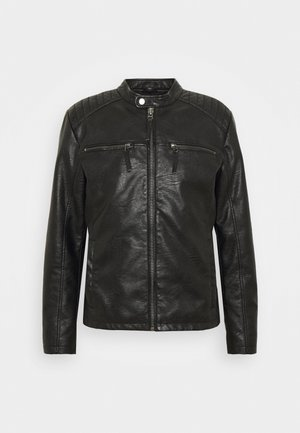 PADDY WASH - Faux leather jacket - black