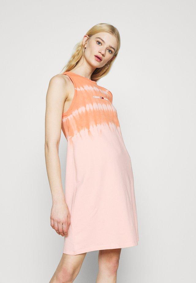 SUMMER TIE DYE TANK DRESS - Day dress - sweet peach/multi