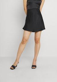 Gina Tricot - JANE SKIRT - Mini skirt - black - 0