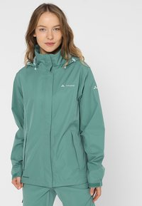 Vaude - WOMANS ESCAPE LIGHT JACKET - Waterproof jacket - nickel green - 0