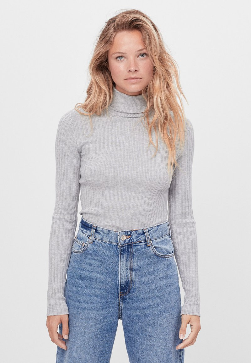 Bershka - Jumper - light grey