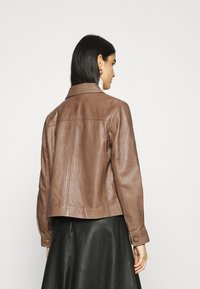 Sisley - Leather jacket - brown - 2
