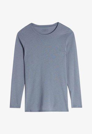 LANGARMSHIRT AUS SUPIMA® BAUMWOLLE - Pyjama top - blue