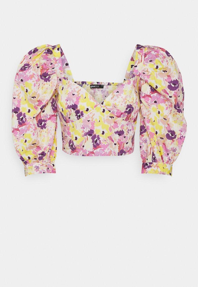 Gina Tricot - MADELEINE BLOUSE - Print T-shirt - pink