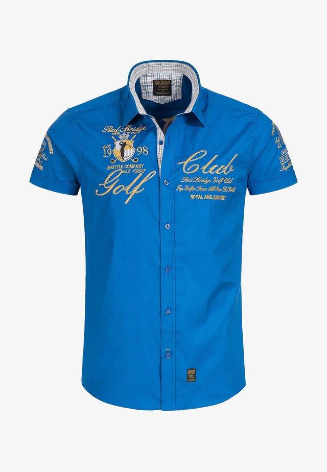 LUBBOCK STICKEREI - Shirt - blau