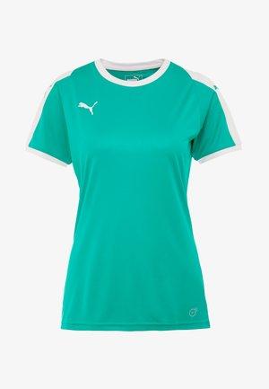 LIGA - T-Shirt print - pepper green/puma white