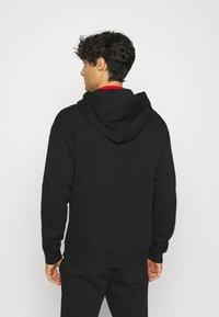 Benetton - ZIP HOODIE CREW NECK - Zip-up hoodie - black - 2