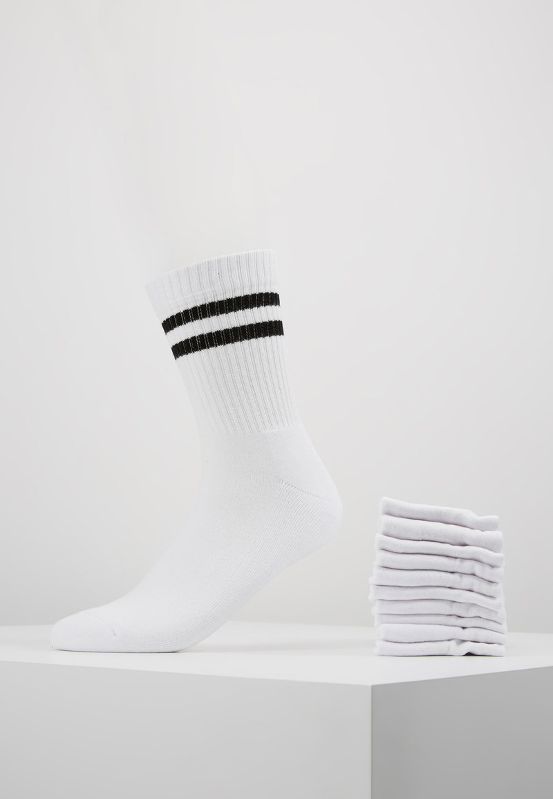 YOURTURN - 10 PACK - Socks - white/black