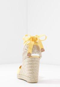 Castañer - CARINA  - High heeled sandals - amarillo/pastel - 5