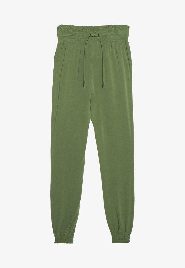 FLUID HAREMS PANTS - Trousers - dull moss green