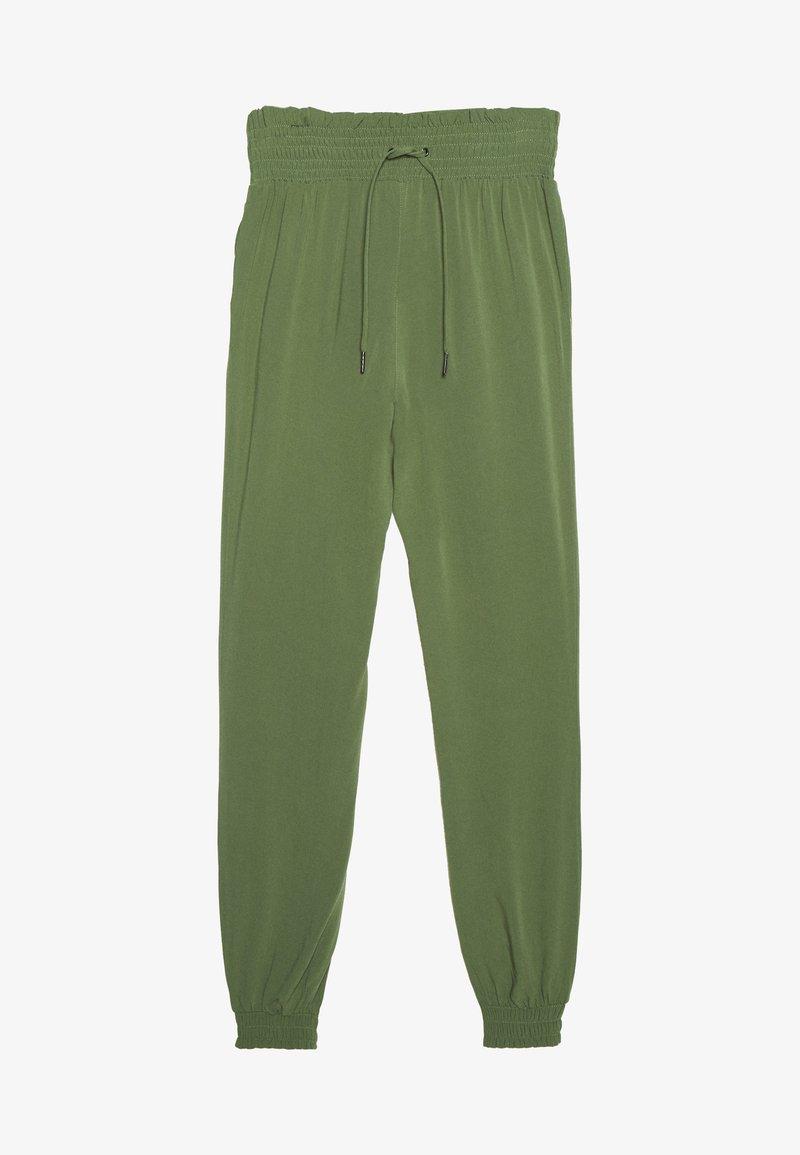 TOM TAILOR DENIM - FLUID HAREMS PANTS - Pantalon classique - dull moss green