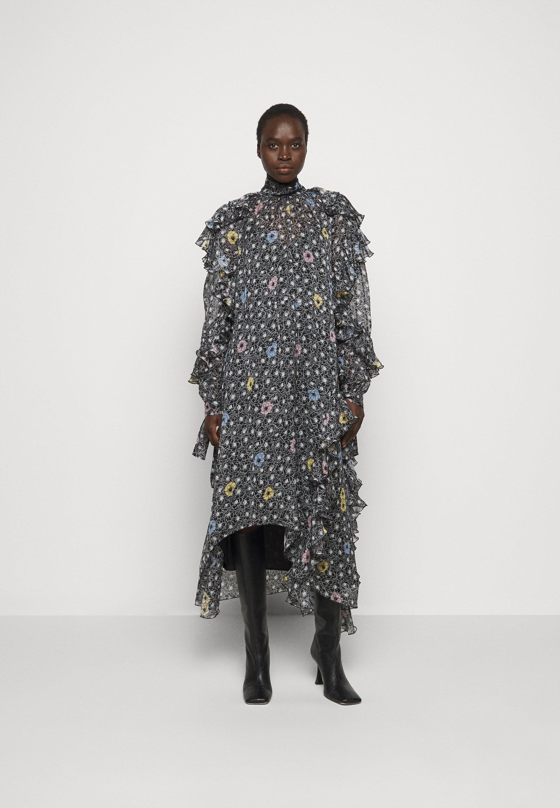 Women RUFFLE SLEEVE DRESS 2-IN-1 - Maxi dress
