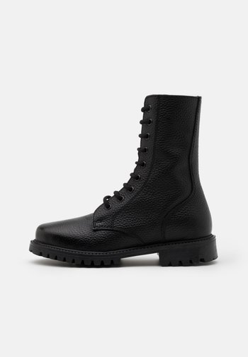 KEFF HIGH EMBOSSED UNISEX - Lace-up ankle boots - black
