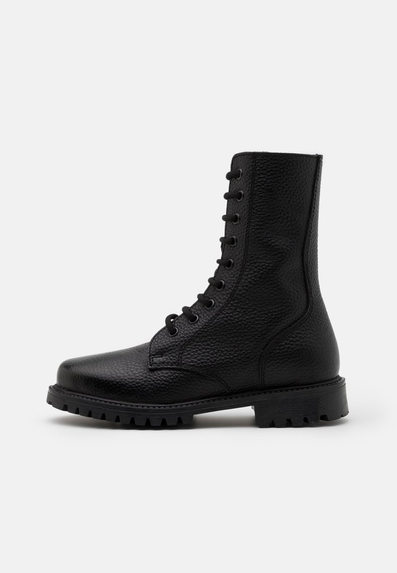 DECHASE - KEFF HIGH EMBOSSED UNISEX - Lace-up ankle boots - black