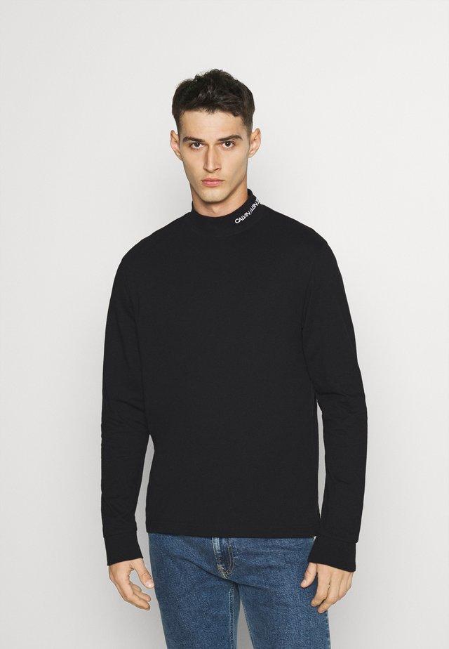 MOCK NECK TEE - Bluzka z długim rękawem - black