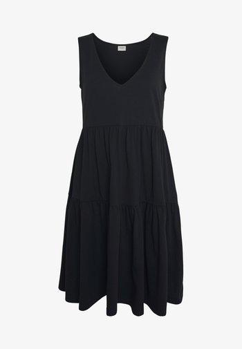 JDYFENNA LIFE V NECK DRESS - Vestido ligero - black