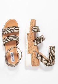 Steve Madden - BANDI - Platform sandals - black/tan - 3