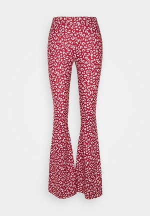 LEOPARD BASIC PANTS - Trousers - red