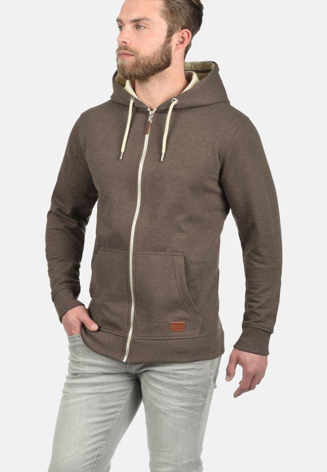 HULKER - veste en sweat zippée - brown