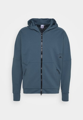 MUST HAVES ENHANCED AEROREADY HOODED - Zip-up sweatshirt - blue