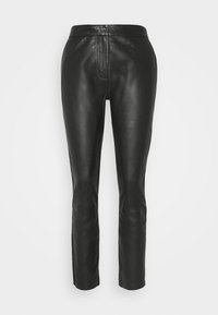 BARROW THINK TWICE - Leather trousers - black