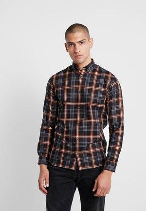 JPRFOCUS CHECK SLIM FIT - Camicia - black