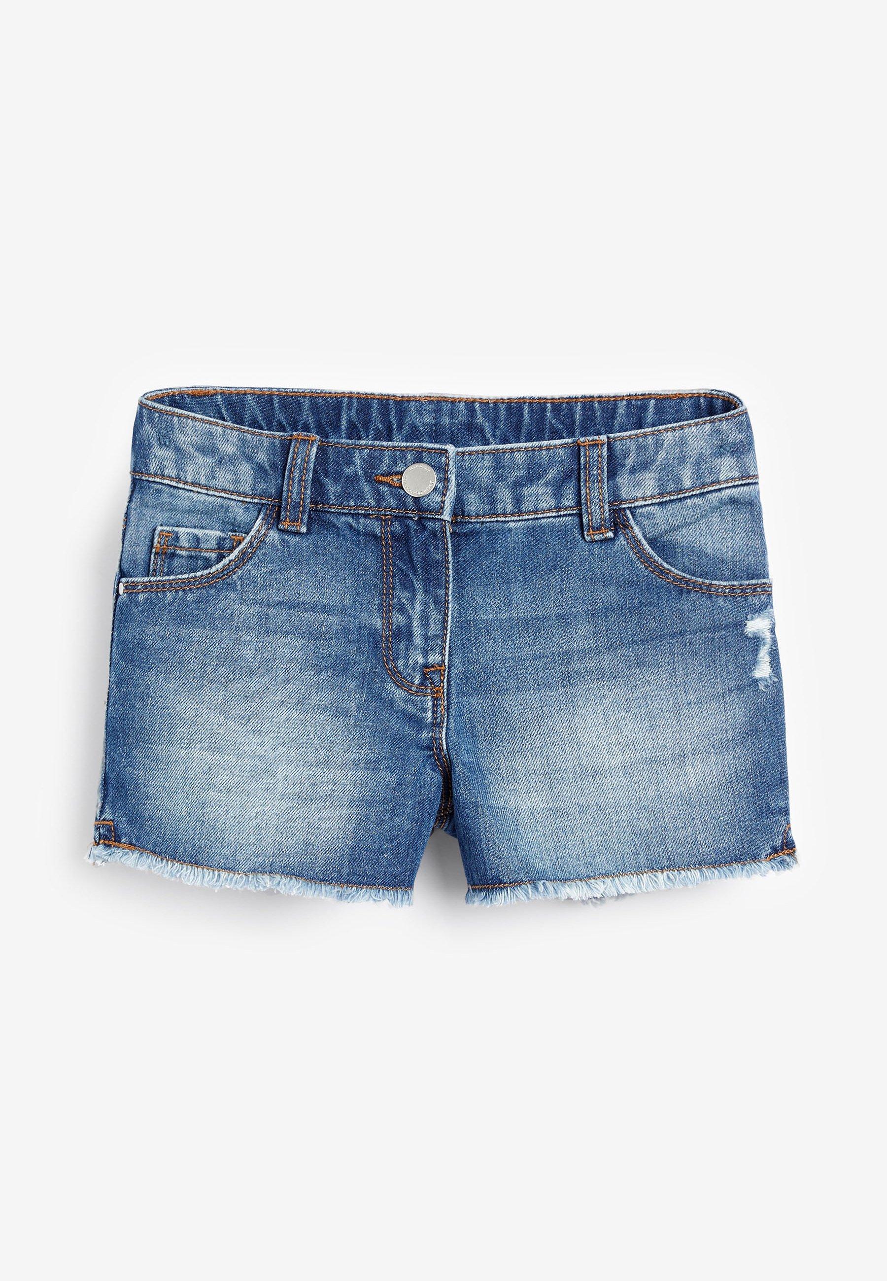 Niño DARK BLUE FRAYED HEM SHORTS (3-16YRS) - Shorts vaqueros