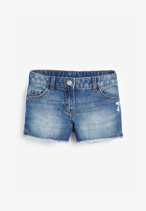 DARK BLUE FRAYED HEM SHORTS (3-16YRS) - Jeansshort - mottled dark blue