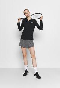 Nike Performance - SHORT - Sports shorts - black heather/black/white - 1