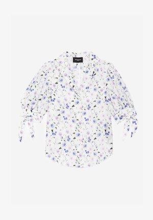 Button-down blouse - ecru  lavender