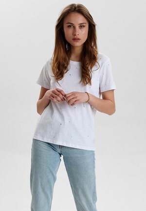 NUCEIL TEE - Print T-shirt - off white
